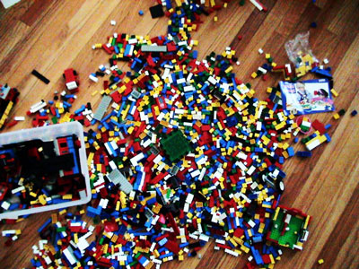 A sampling of our Lego collection, circa 2006 (we've since added more)
